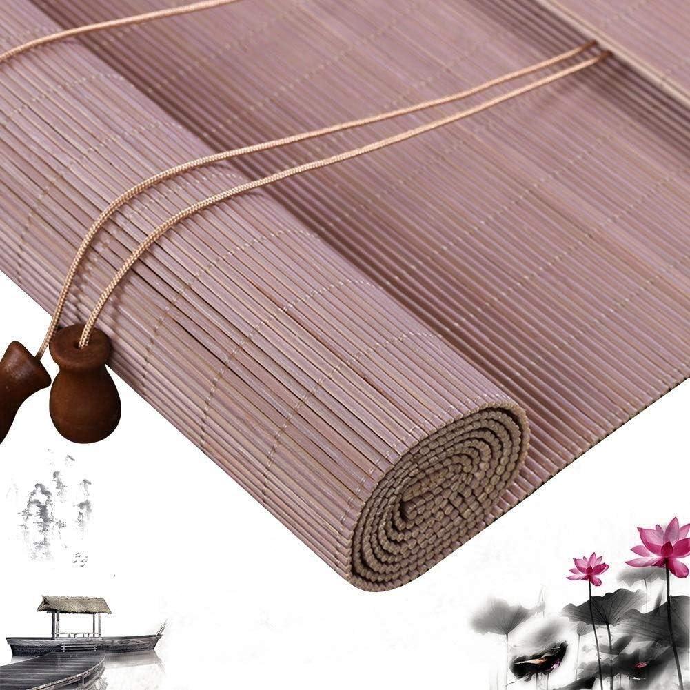 YN-Bamboo Blind Persianas Romanas de bambú con cordón para Cortina ...