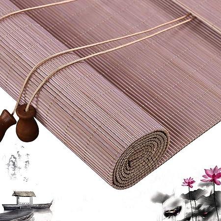 Persianas Romanas de Bambú Rollo Persianas Persianas de Madera con Cordón Ventana de Cortina Sombra Filtrante