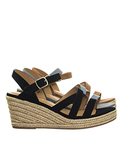 87f4c33b340 Aquapillar Espadrille Rope Jute Wrap Platform Wedge Open Toe Dress Sandal