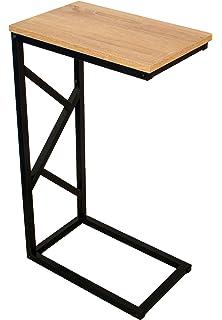 BonVIVO® Designer Couchtisch GIORGIO, Beistelltisch In Moderner Holz Optik  Schwarzem Stahlgestell