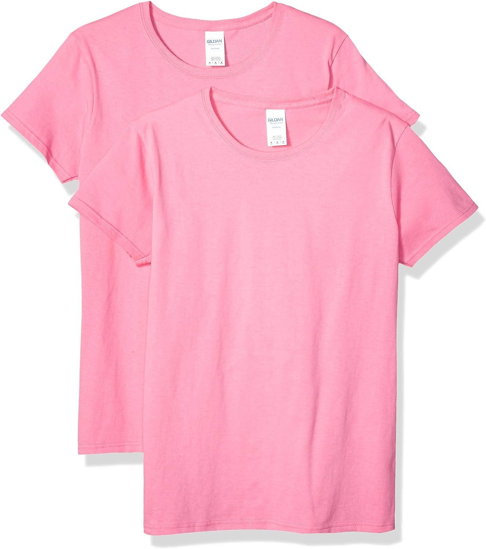 Gildan Women's Heavy Cotton Adult T-Shirt, 2-Pack