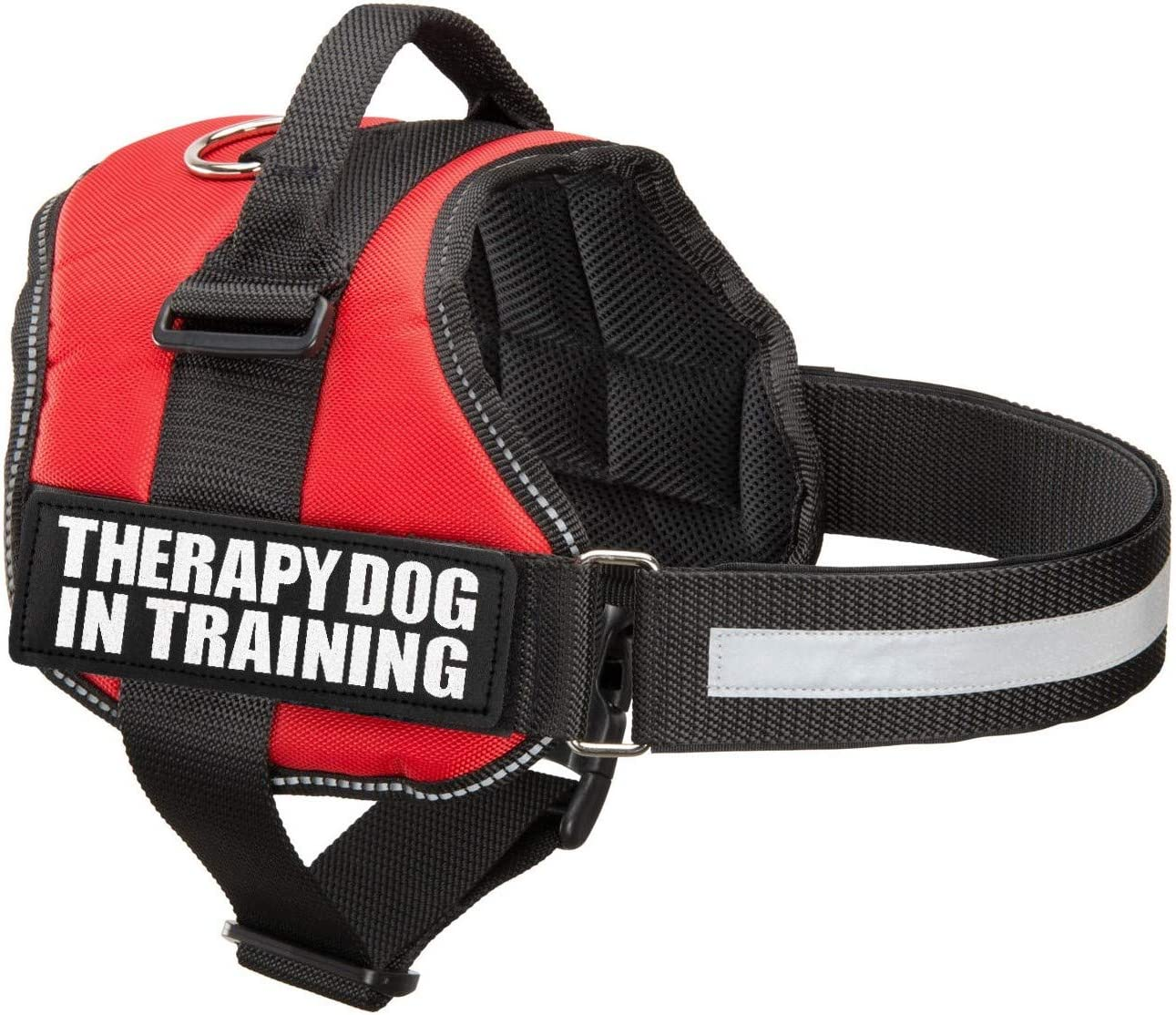 Industrial Puppy Therapy Dog in Training Vest with Hook and Loop Straps and Handle - Harness is Available in XXS to XXL