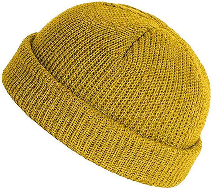 STORTO Fashion Hip-Hop Solid Hat Unisex Solid Classic Baggy Beanie Caps