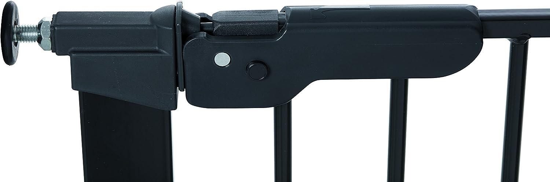 86-93,3 cm Noir Baby Dan Premier Barri/ère /à Fixation par Pression pour Porte//Escalier