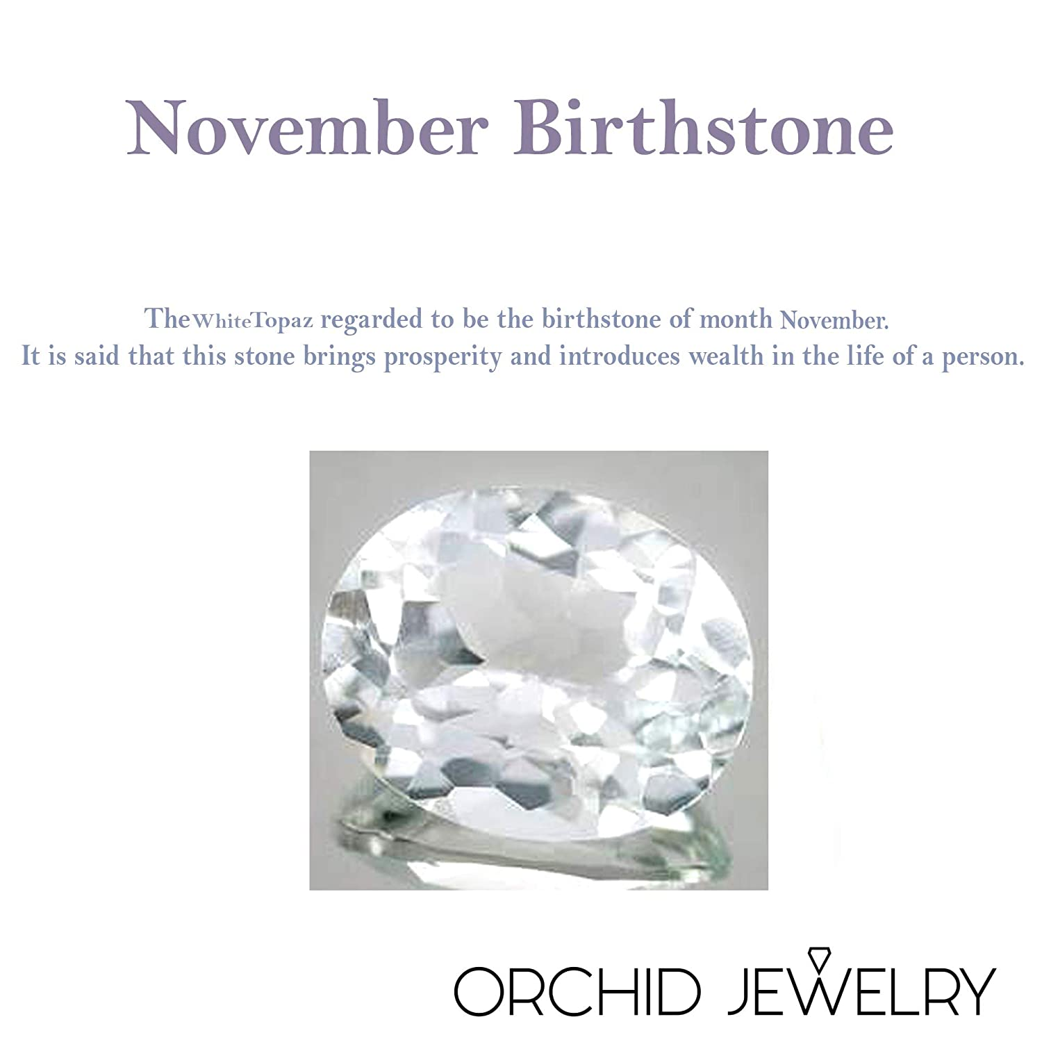 Nickel Free Beautiful and Stylish Birthday Gift for Sister Orchid Jewelry 2.40 Ct Pear Shaped White Topaz 925 Sterling Silver Pendant for Women