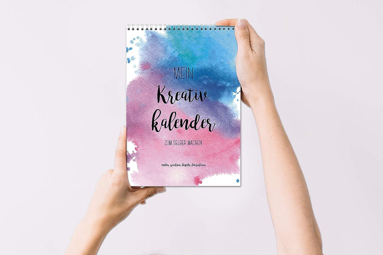 con colori ad acqua II Sophies Kartenwelt senza anno Calendario fai da te in formato A4