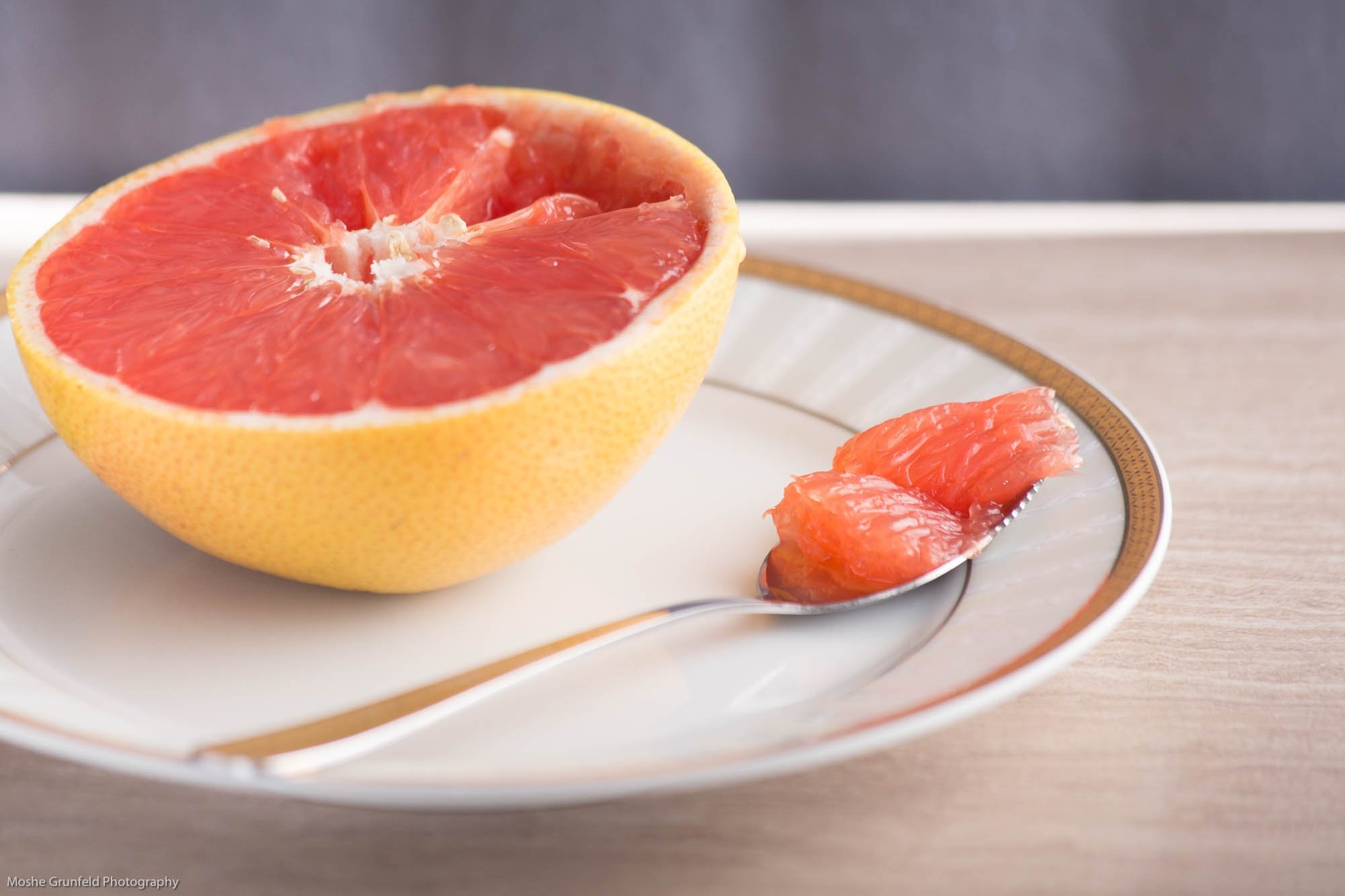 ChefLand Stainless Steel Thick Grapefruit Spoon, Dessert Spoon, Serrated Edge, Set of 2 by ChefLand