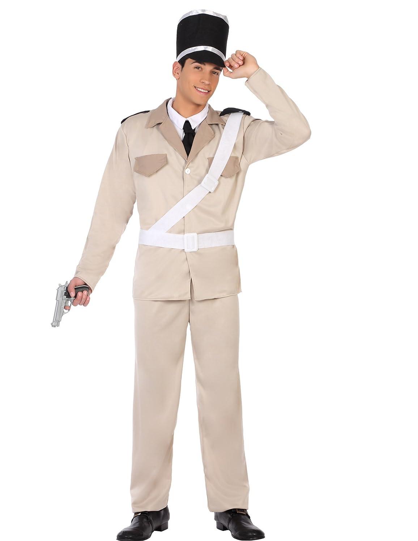 Atosa 50340 Costume de Policier pour Homme Costume Police Man XL Beige/Chaud