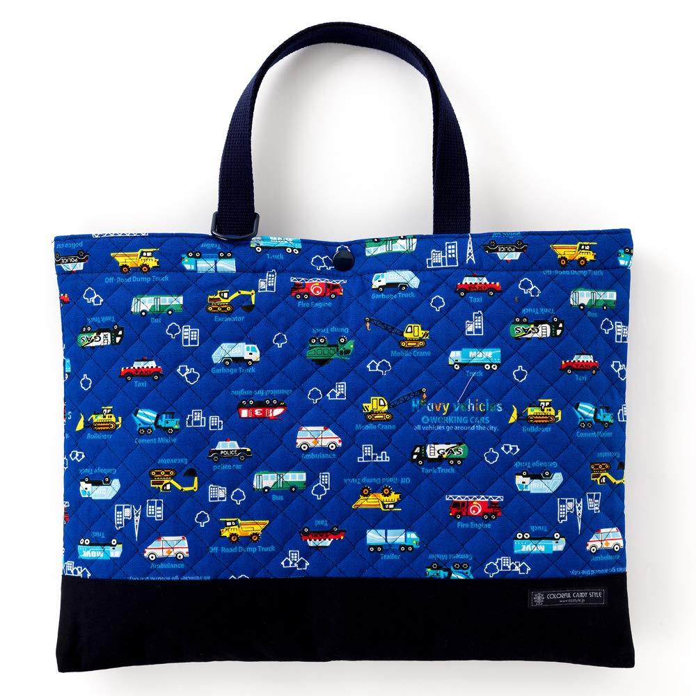 Auto Bambini sacchetto lezione di senso il lavoro fatto a mano (quilt) tutto gas (Royal blu) made in Japan N0233300 (japan import)