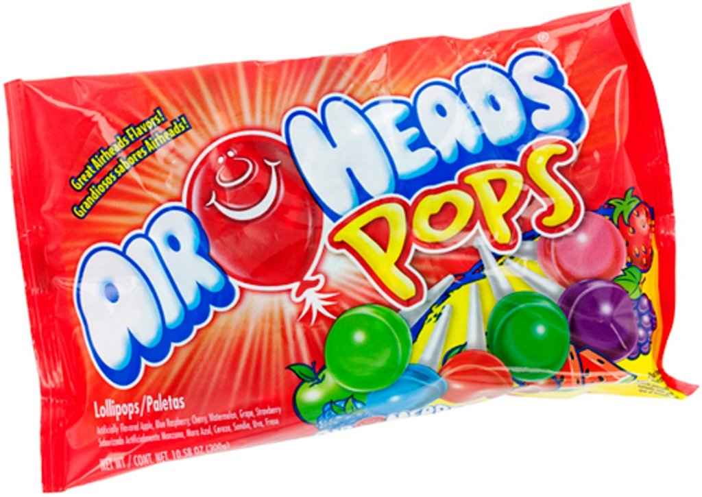 Amazon.com : Airheads Pops Assorted, 50-Count Lollipops, 10.58-Ounce Pack (Pack of 6) : Grocery & Gourmet Food