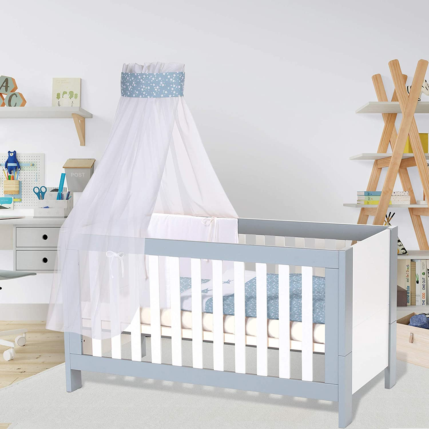 Babybay Melina Slatted Frame Suitable For Cot, Natural Untreated, Sin Tratar, 70 x 140 cm