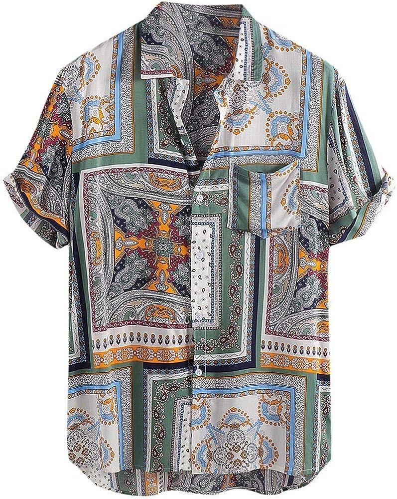 XuanhaFU Polo para Hombre de Manga Corta Casual Solapa Camisa De ...