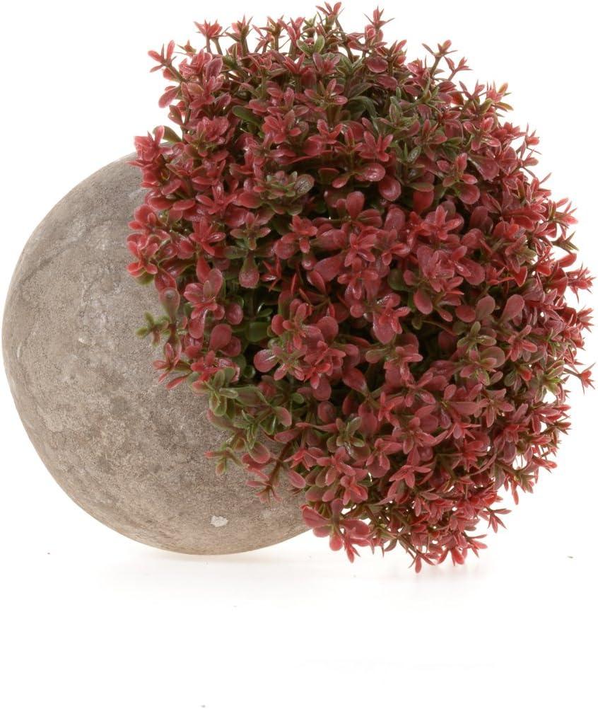 Rosa Bl/üten f/ür Hochzeit//B/üro//Zuhause Dekoration 3er Set T4U K/ünstliche Blumen Bonsai Kunstpflanze mit grauen Topf