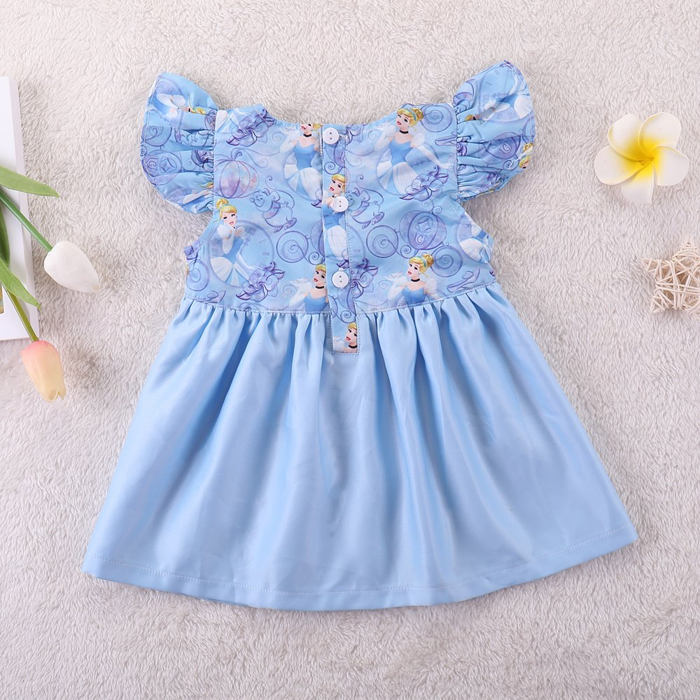 YOUNGER TREE Baby Girls Summer Dress Short Sleeves Party Skirt for 0-5 Years