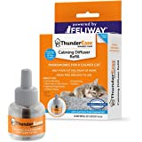 ThunderEase Cat Calming Pheromone Diffuser Refill | Powered by FELIWAY | Reduce Scratching, Urine Spraying, Marking, and Anxiety (30 Day Supply)