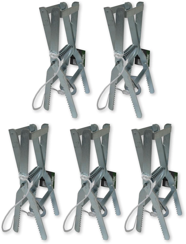Marko Gardening 5x Heavy Duty Steel Galvanised Scissor Action Mole Trap Strong Spring Pest Control