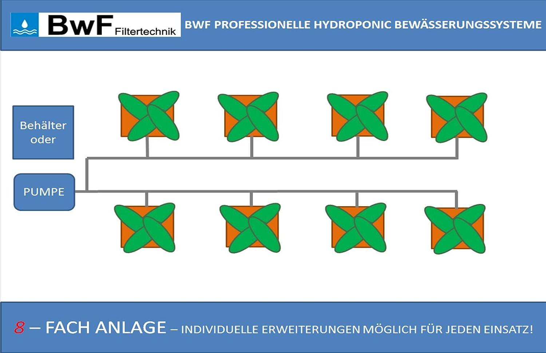 800er 8-FACH BwF Bewässerungssystem Grow, Hydrokultur, Indoor, Aufzucht, Pflanzen, Nutzplanzen, Hanf, Homegrow, INDIVIDUELL ERWEITERBAR