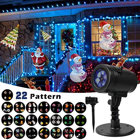 christmas decoration projector 22 mode rotating projector spotlight waterproof led landscape light courtyard lighting