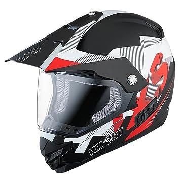 IXS HX 207 Globe Enduro casco moto policarbonato – negro mate blanco