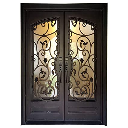 Simart Wrought Iron Doors Double Exterior Front Entry Double Wrought