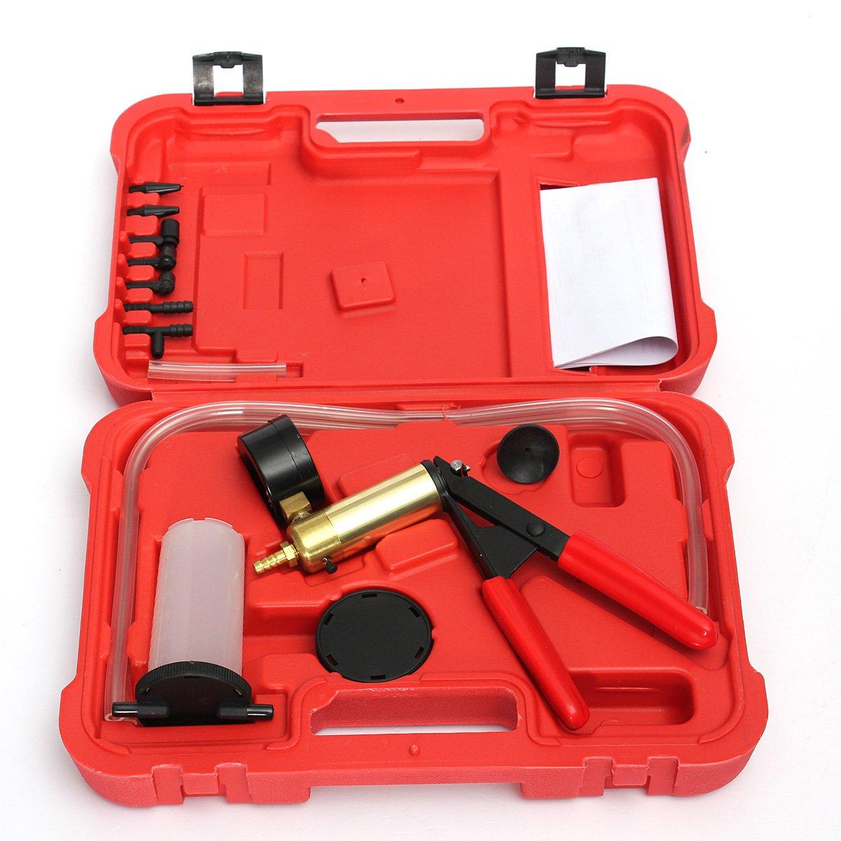 VORCOOL Car Auto Manual Handheld Vacuum Pump Brake Bleeder Professional Repair Tester Kit