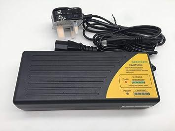 Cargador Inteligente 42V 1.8A para Bicicleta eléctrica con batería de Litio de 36V, aprobación CE 4 etapas (Pre-CC-CV-Cutoff): Amazon.es: Electrónica
