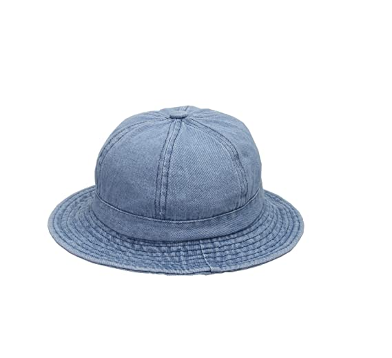 8a8a28555623e YueLian Women Demin Casual Camping Sun Hat Cap Foldable Ladies Jean Bucket  Hats Sunbonnet Blue (