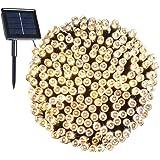 200 LED, 22 Mètres de Guirlande Lumière Solaire Imperméable, 8 Modes Lumière Extérieure Décorative, Pour Noël, Jardin, Fête, Vacances, Mariage, Soirée (blanc chaud)
