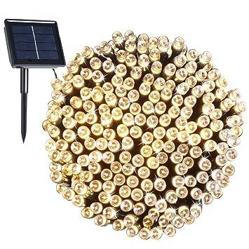 200 LED, 22 Mètres de Guirlande Lumière Solaire Imperméable, 8 Modes ...