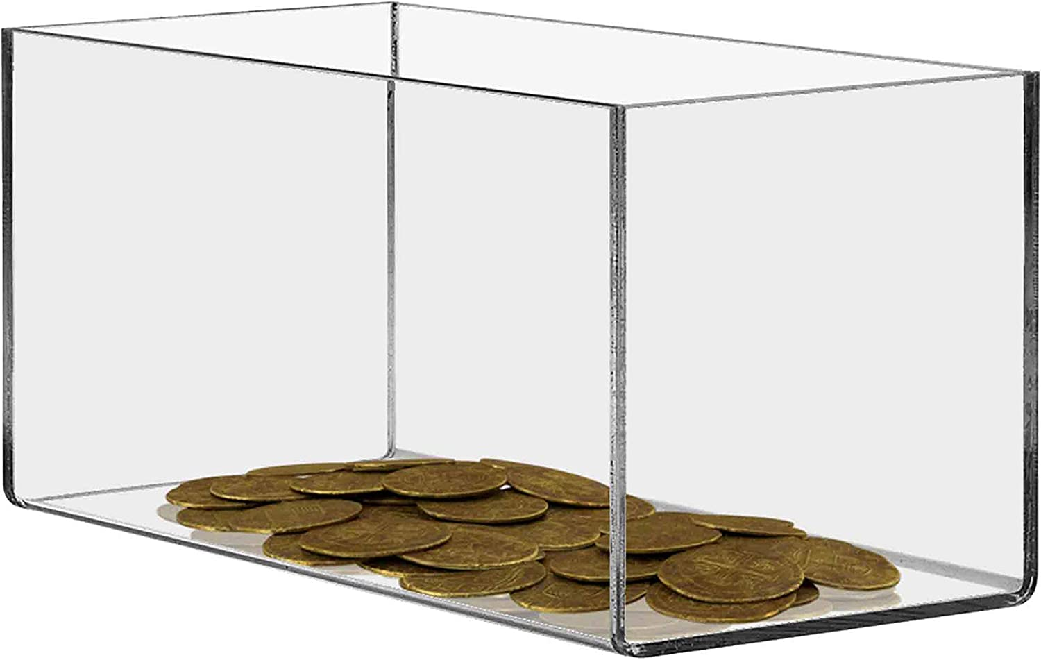 Marketing Holders Pedestal Display Box 8w x 8d x 12h Showcase Cube Display Collectible Cover Trinkets Trophy Display 5 Sided Square Activity Cube