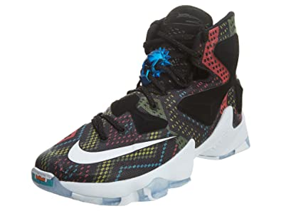 buy online 08ece 46881 Nike Mens Lebron XIII BHM Multi-Color White-Black Synthetic Size 8.5