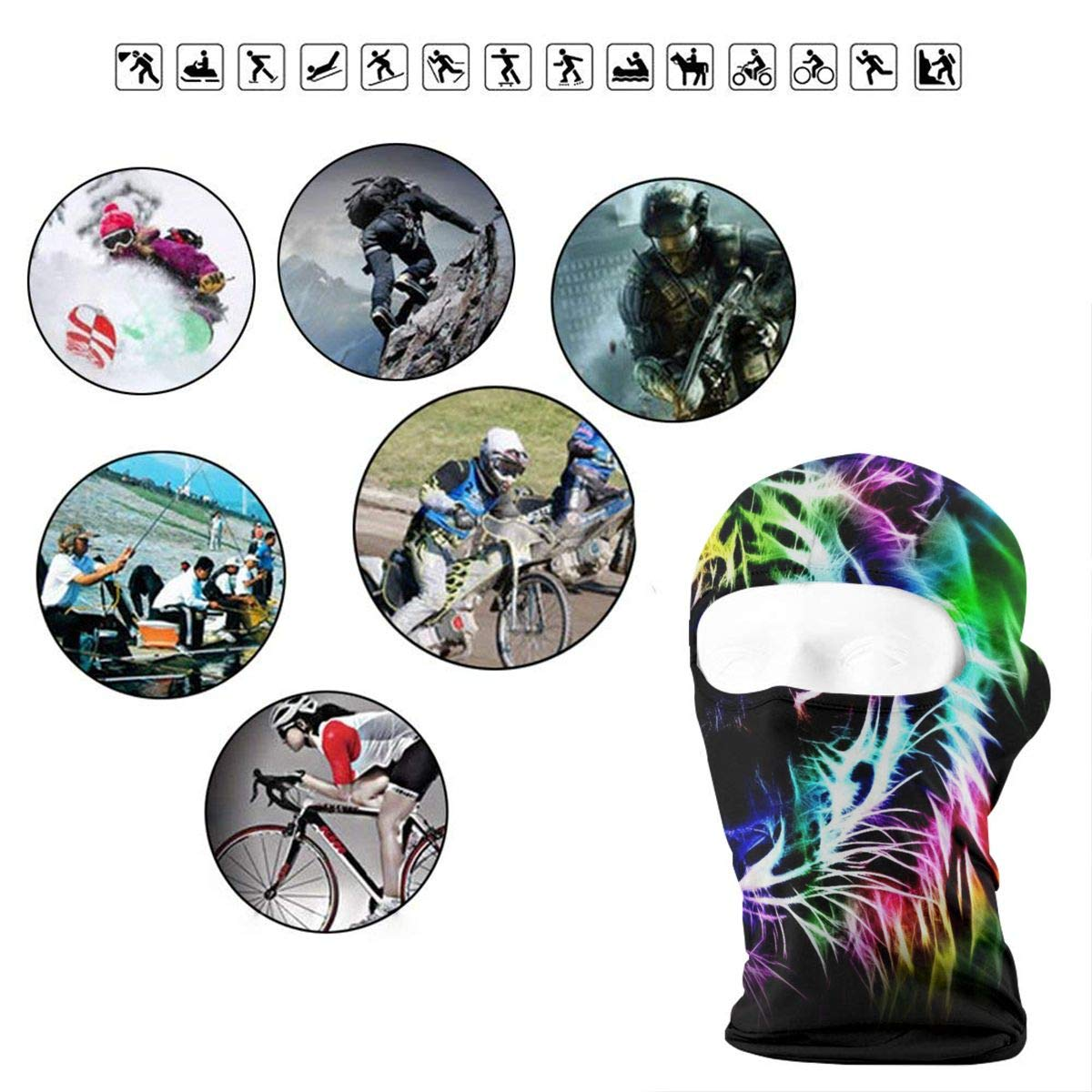 Balaclava Cool Sunflower Full Face Masks Ski Mask Motorcycle Hood For Cycling Sports Mountaineering