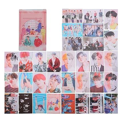Amazon com: Hosston Kpop BTS Lomo Card Bangtan Boys Paper Photocard