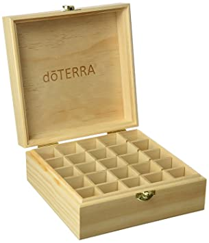BlueField Essential Oil Boxes, DoTEA Wooden Cabinet by 25 Blocks for 15ml to 20ml Bottles