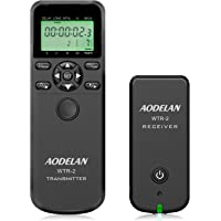 Camera Remote Wireless Shutter Release Intervalometer with LCD for Canon EOS RP, Rebel T6, T7, T7i, 5D, 6D, 90D, SL2, 6D…
