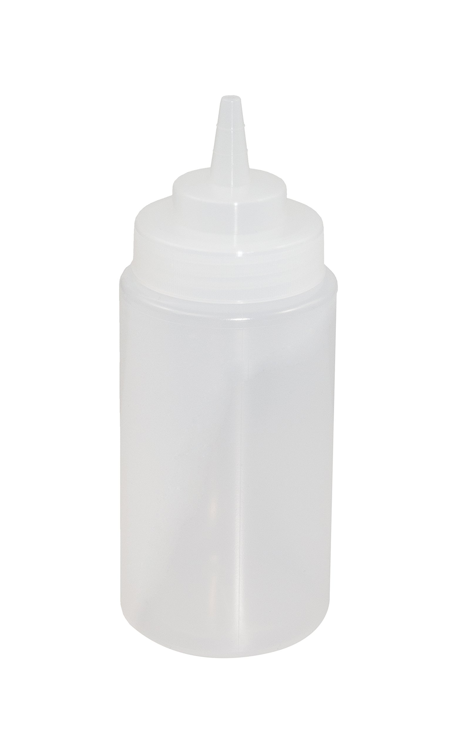 Crestware SB16CW Squeeze Wide Mouth Bottle, 16 oz, Clear by CRESTWARE