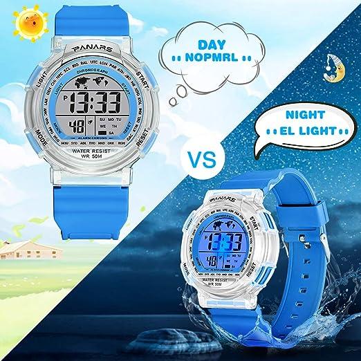 MEETYOO Relojes de Pulsera Infantil, Relojes Niña Digitales Impermeabl Niño Deportes Relojes con Alarma Cronómetro para 6-16 Edad: Amazon.es: Relojes