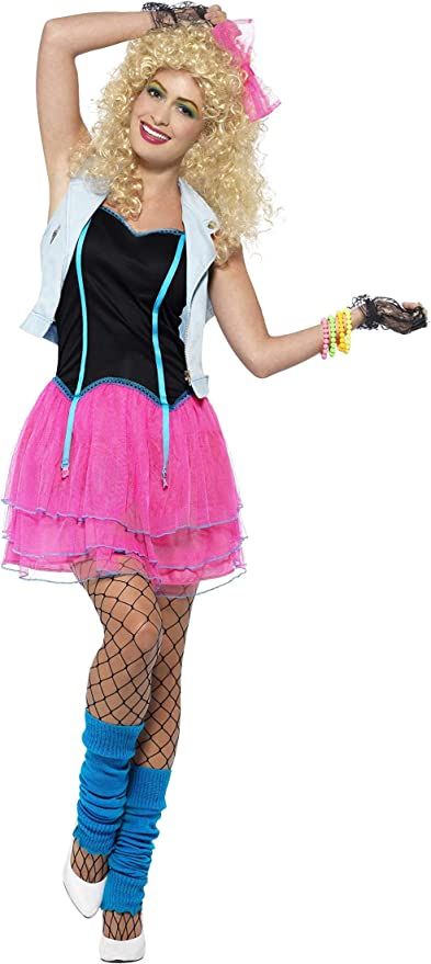 80s Costumes, Outfit Ideas- Girls and Guys Smiffys 80s Wild Girl Costume £29.51 AT vintagedancer.com