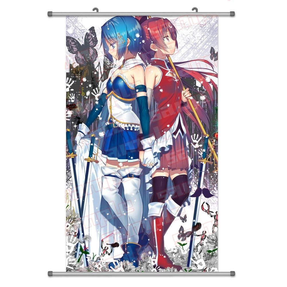 A Wide Variety of Puella Magi Madoka Magica Anime Characters Wall Scroll Hanging Decor (Sakura Kyouko (Kyoko) & Miki Sayaka 1)