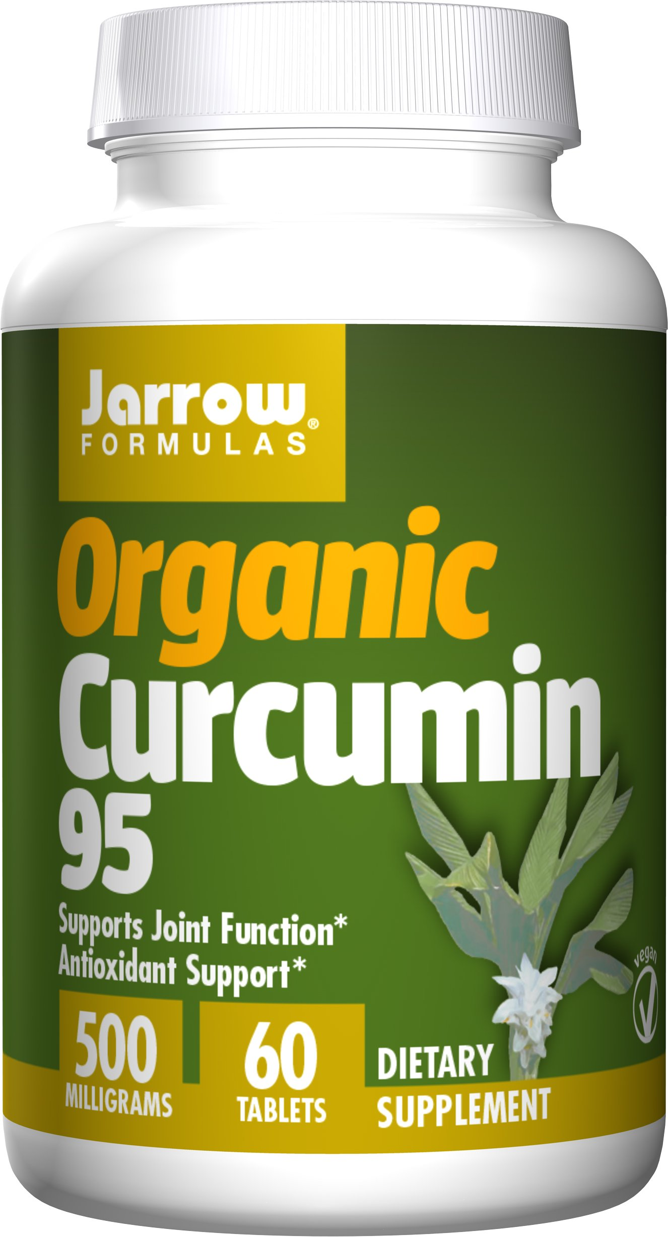 Jarrow Formulas Organic Curcumin 95, Turmeric Antioxidant Support 500 mg Tablets, 60 Count