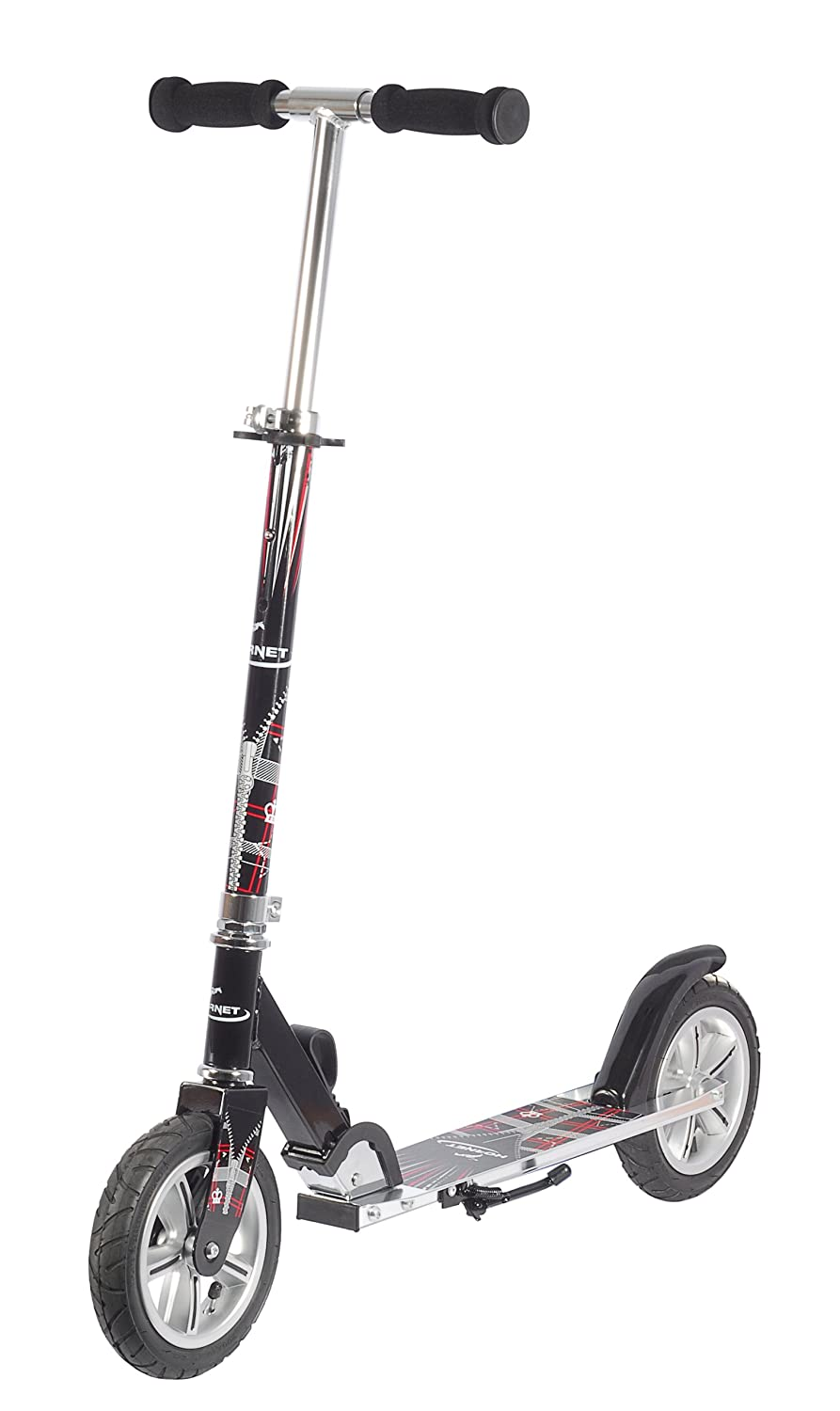 Hudora Hornet Air 205 - Scooters (Kids/Adults, Asphalt, Negro, Plata)