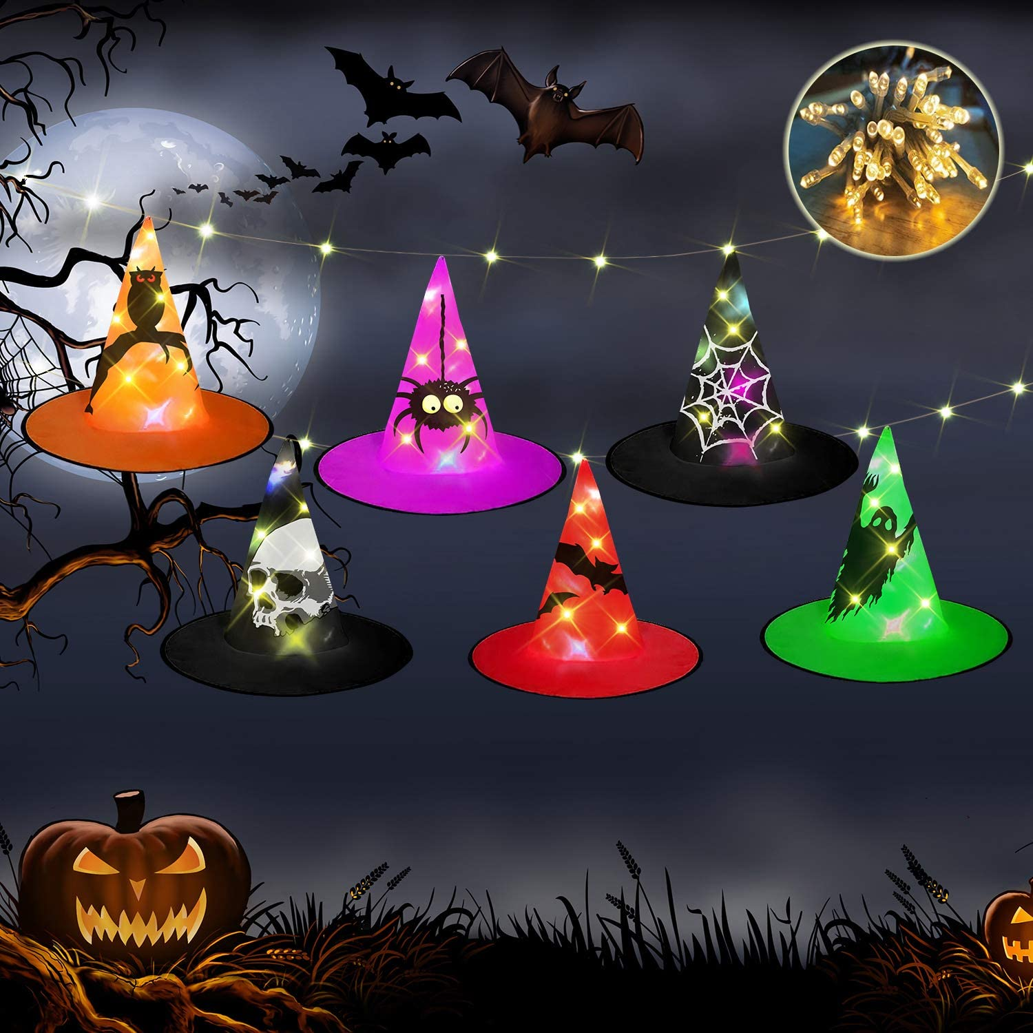 Halloween Decorations Witch Hats