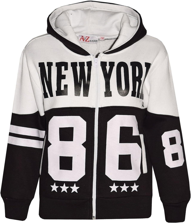 Ch/ándal infantil para ni/ños y ni/ñas dise/ño de Nueva York 86 con capucha y pantal/ón para correr A2Z 4 Kids/®