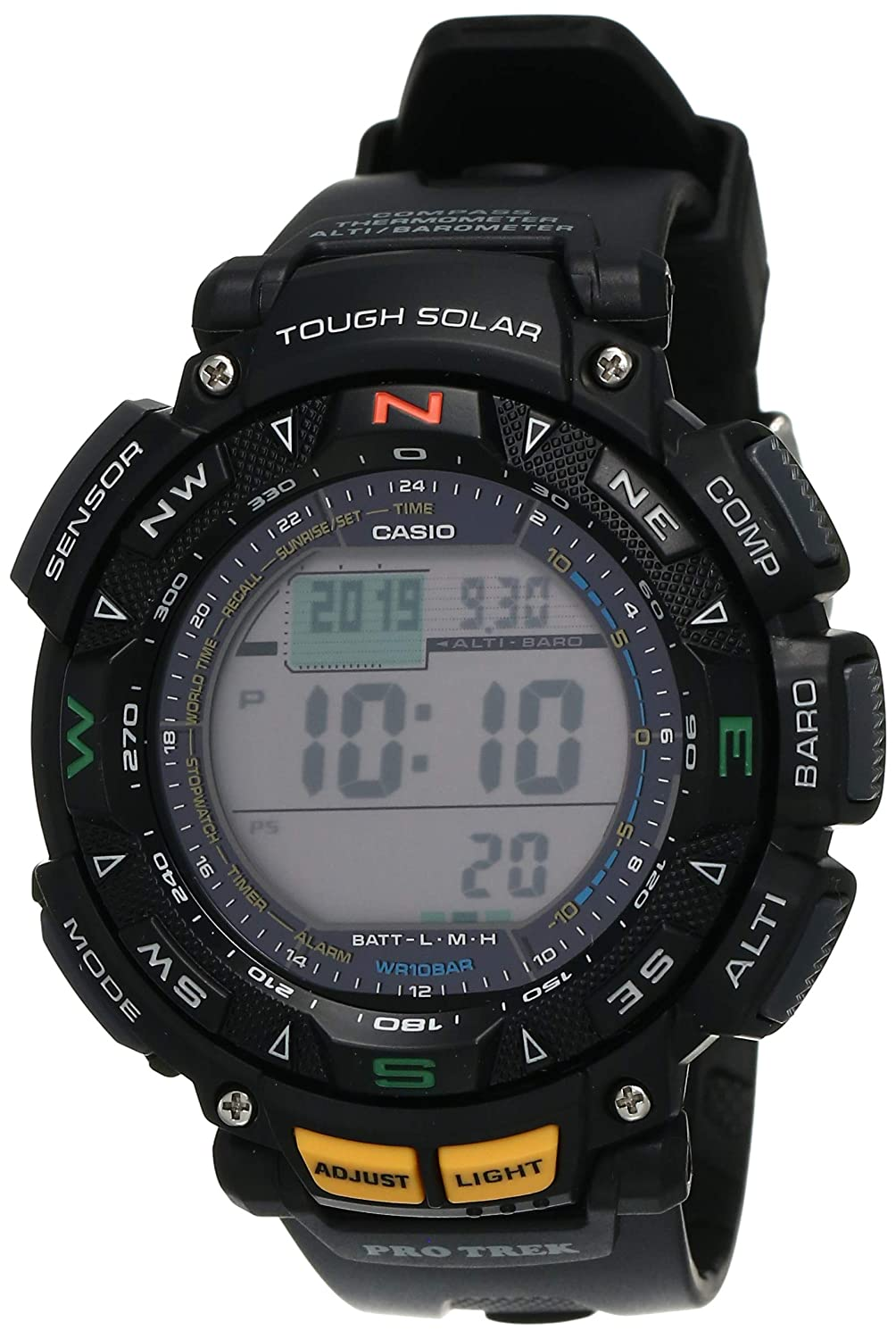 Casio Outdoor Digital Grey Dial Men's Watch - PRG-240-1DR (SL47)