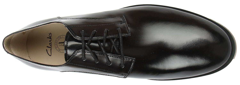 CLARKS MENS ELLIS Leon Derbys Black (Black Leather) 8.5 UK New