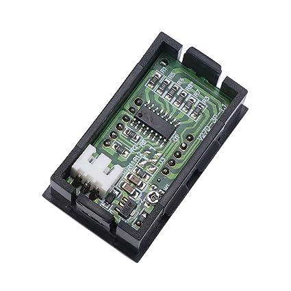 DROK® Mini DC 0,00 - 9.99 V Voltímetro Rojo LED Digital Display Panel medidor de Voltaje batería de Coche Monitor Detector de Volt: Amazon.es: Electrónica