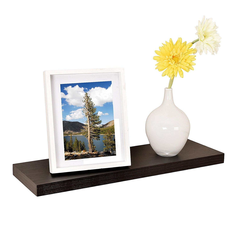 WELLAND Simonsフローティングウォールシェルフ オフホワイト 24-inch ブラウン WSV117 shelf. B074CDHDGRエスプレッソ 24-inch