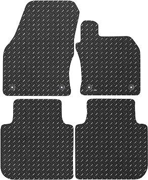 Black JVL Tailored Rubber Car Mat Set