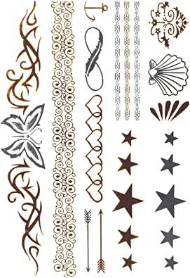 STRASS & PAILLETTES Bijoux de Piel – Tarjeta de Stickers Tattoo ...