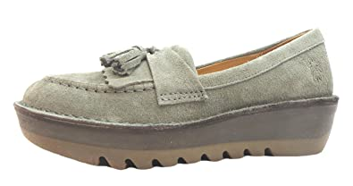 910b05ed9d3 Size 8 Fly London Women s Juno Suede Loafers  Amazon.co.uk  Shoes   Bags